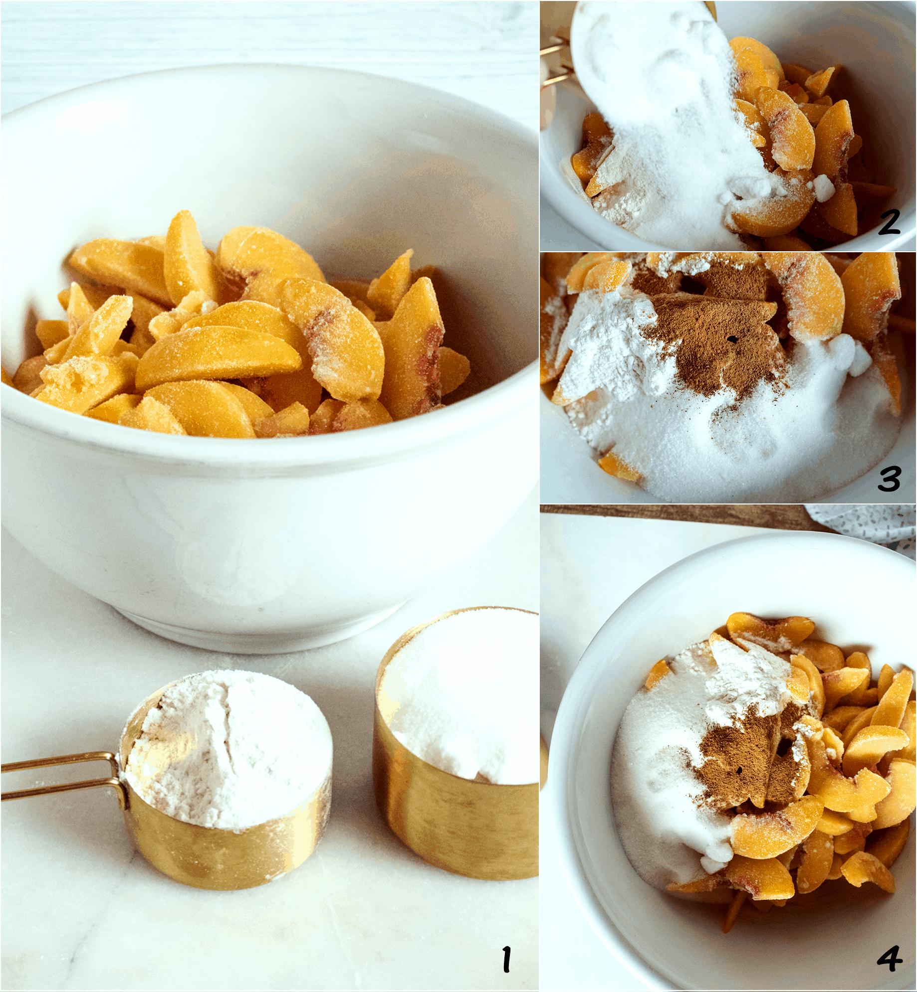 how to make homemade peach pie steps