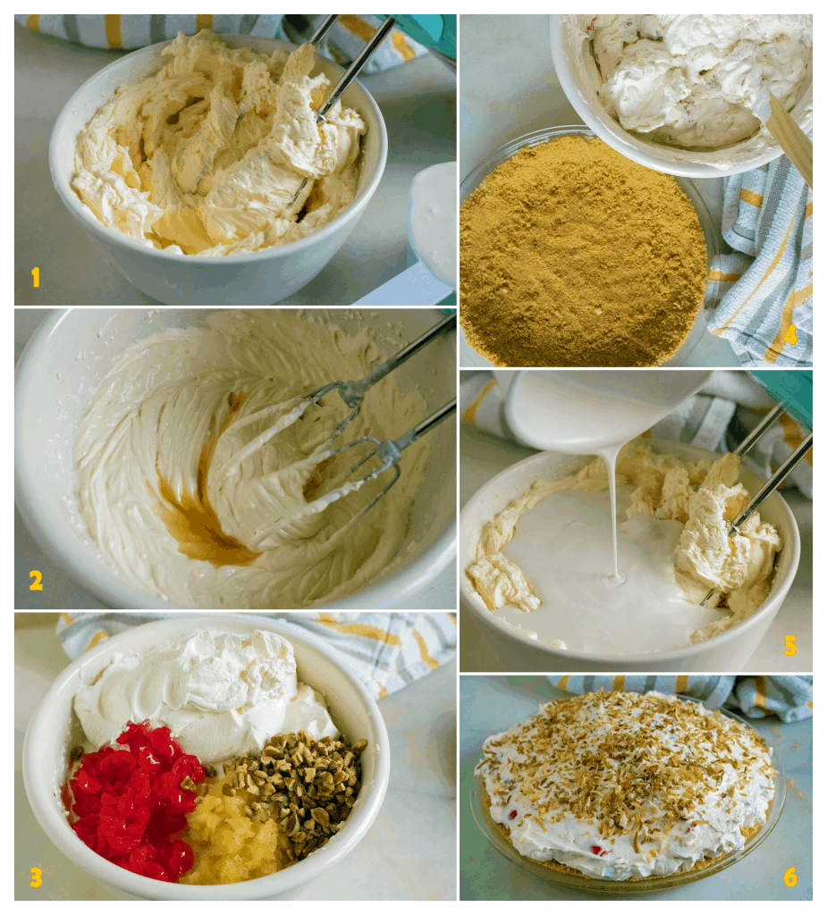 steps to make pina colada pie