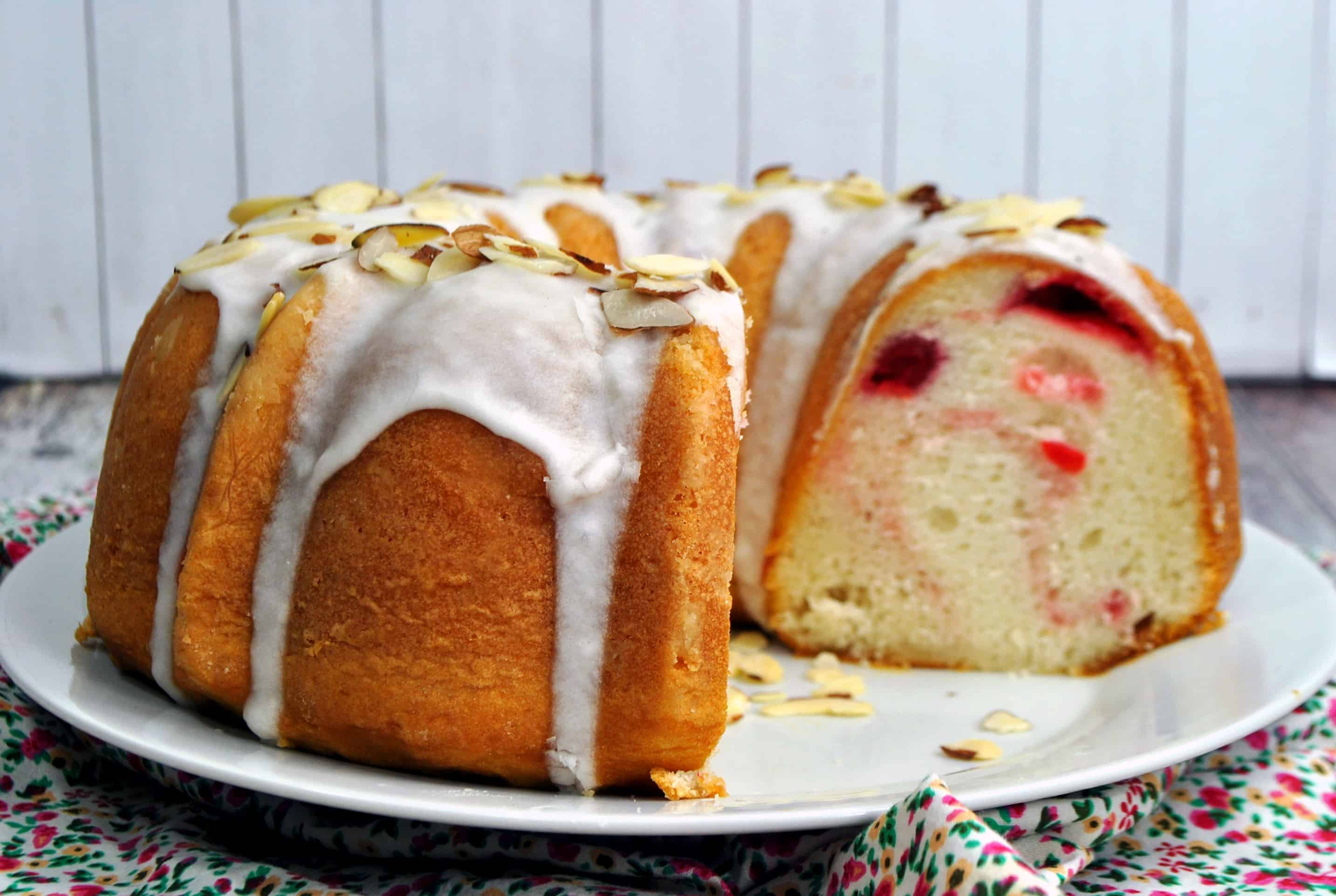 Cherry Almond Bundt Cake