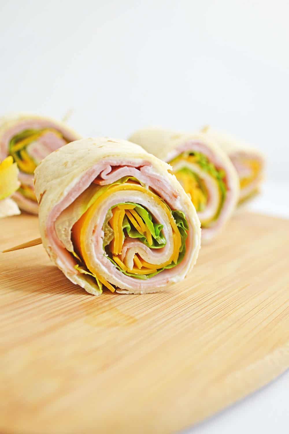 Ham And Cheese Pin Wheels