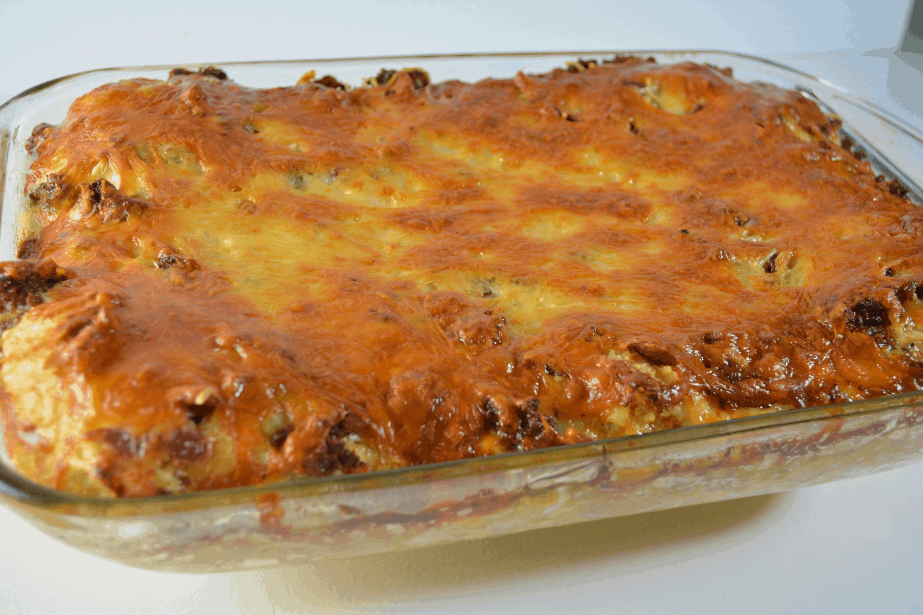 breakfast bake in baking dish