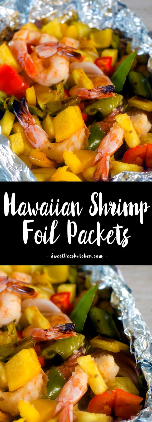 Hawaiian Shrimp Foil Packets