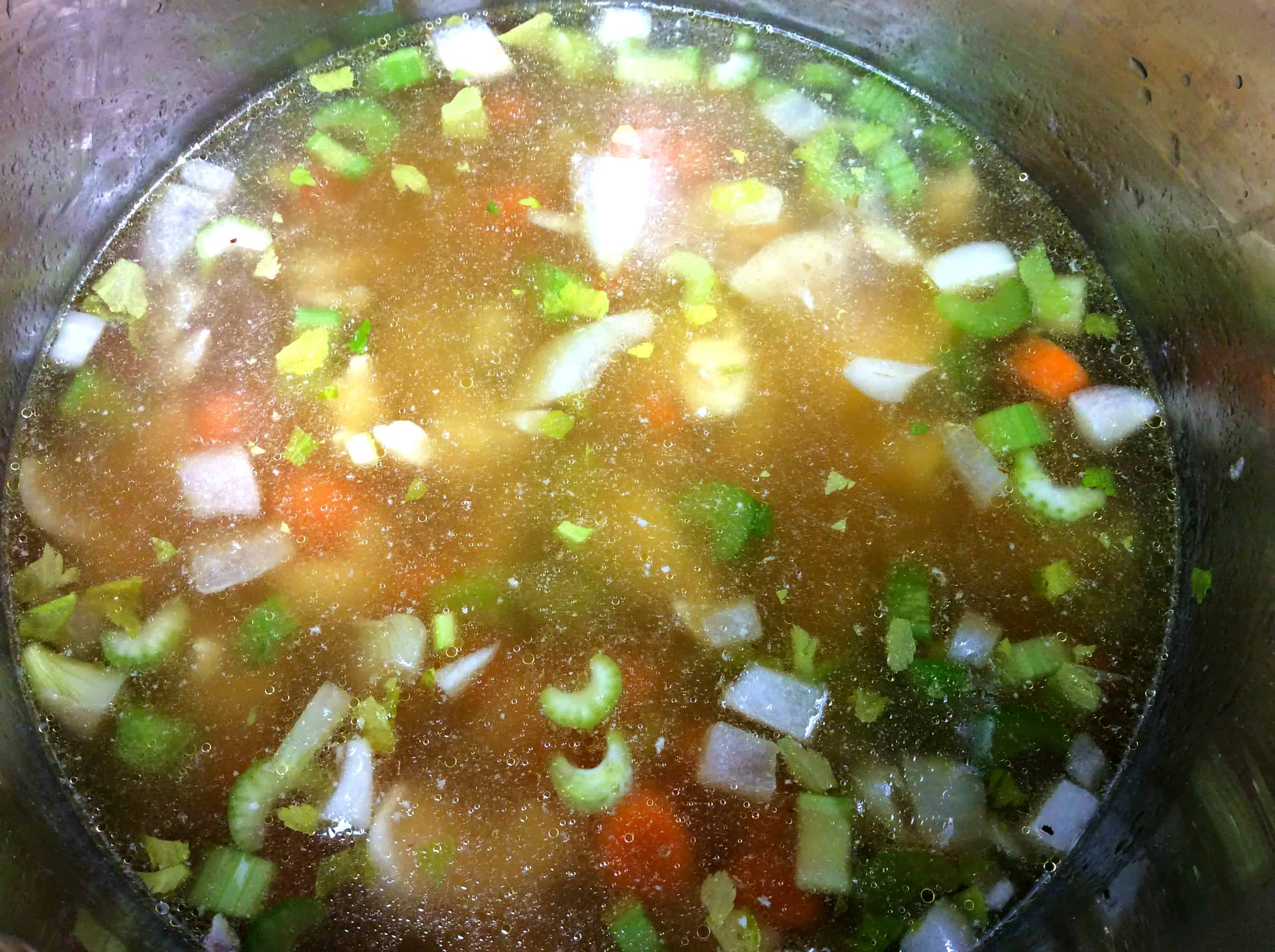 vegetables and broth