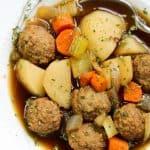 Meatballs and Potato Soup