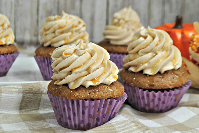 Pumpkin Caramel Latte Cupcake