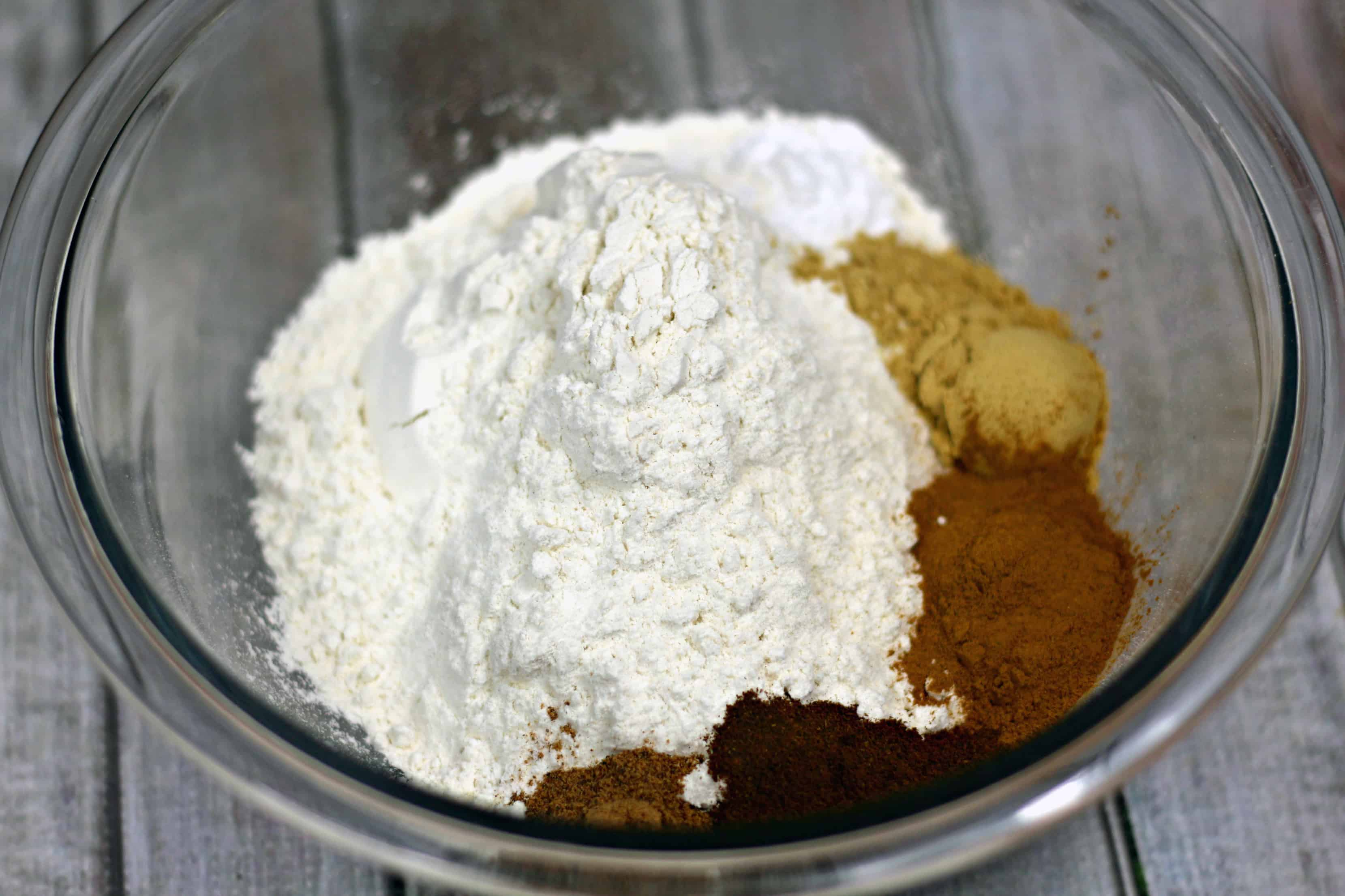 gingerbread glaze ingredients in bowl