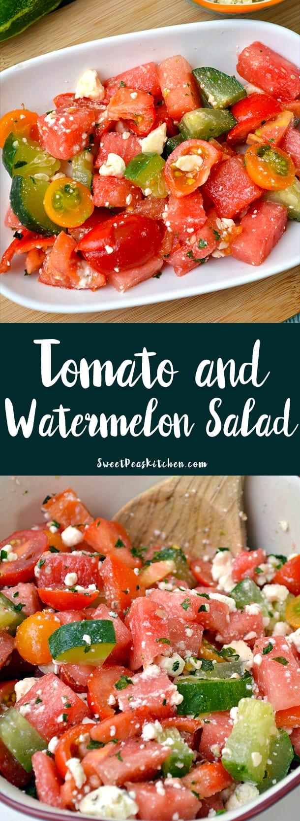 Tomato and Watermelon Salad