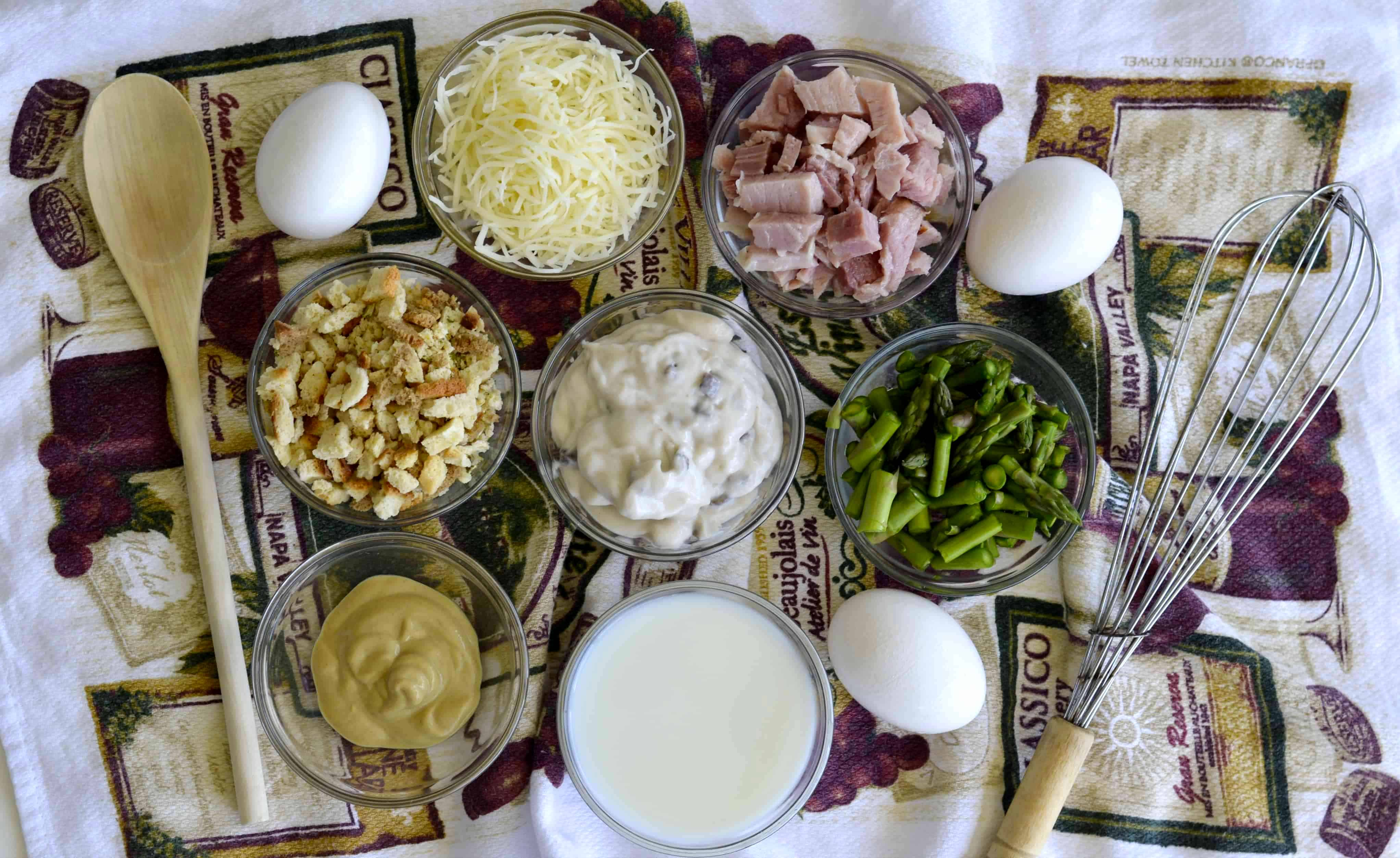 ingredients for ham casserole