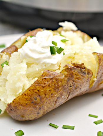 freshly cooked instant pot baked potato