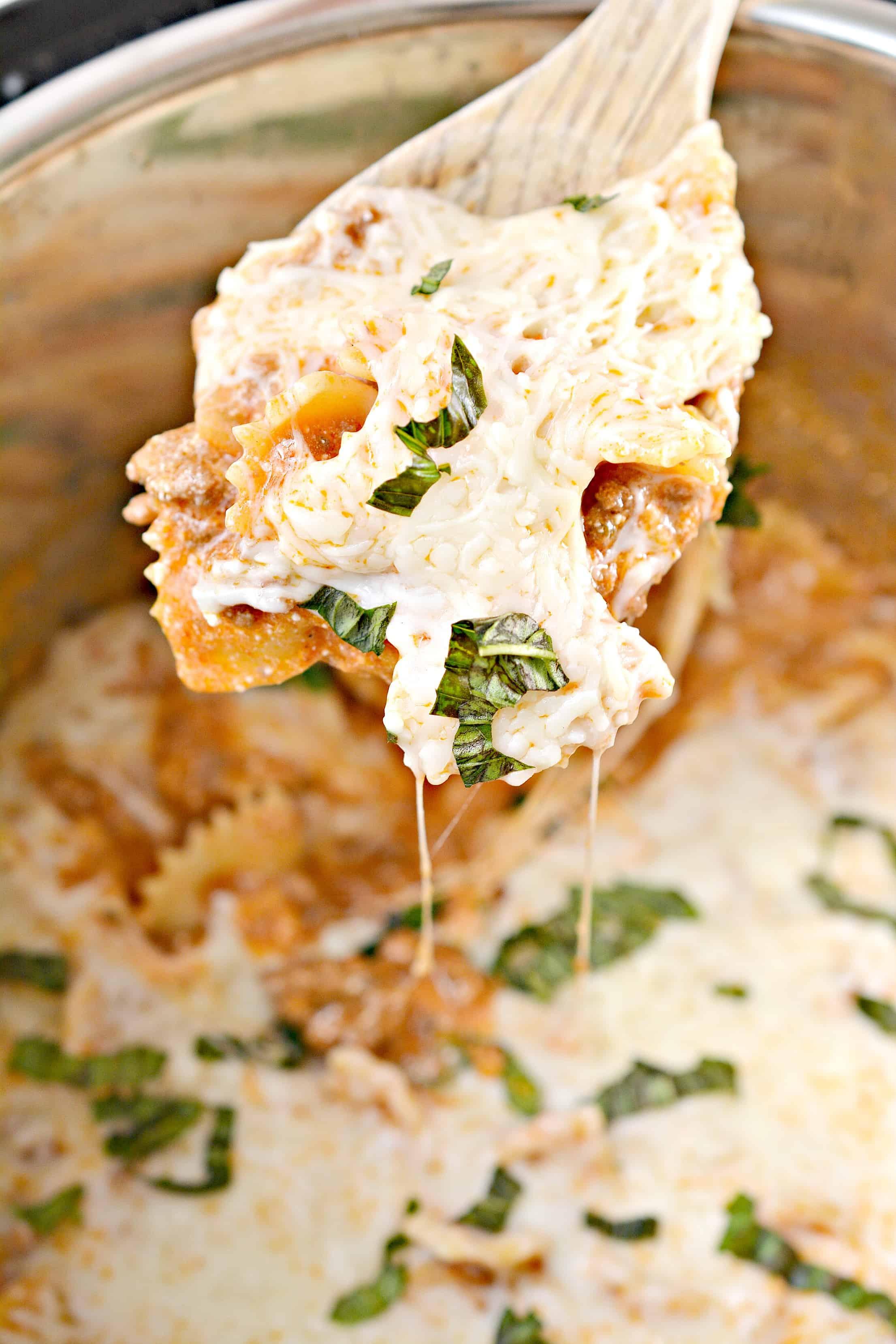 lazy man Instant Pot lasagna