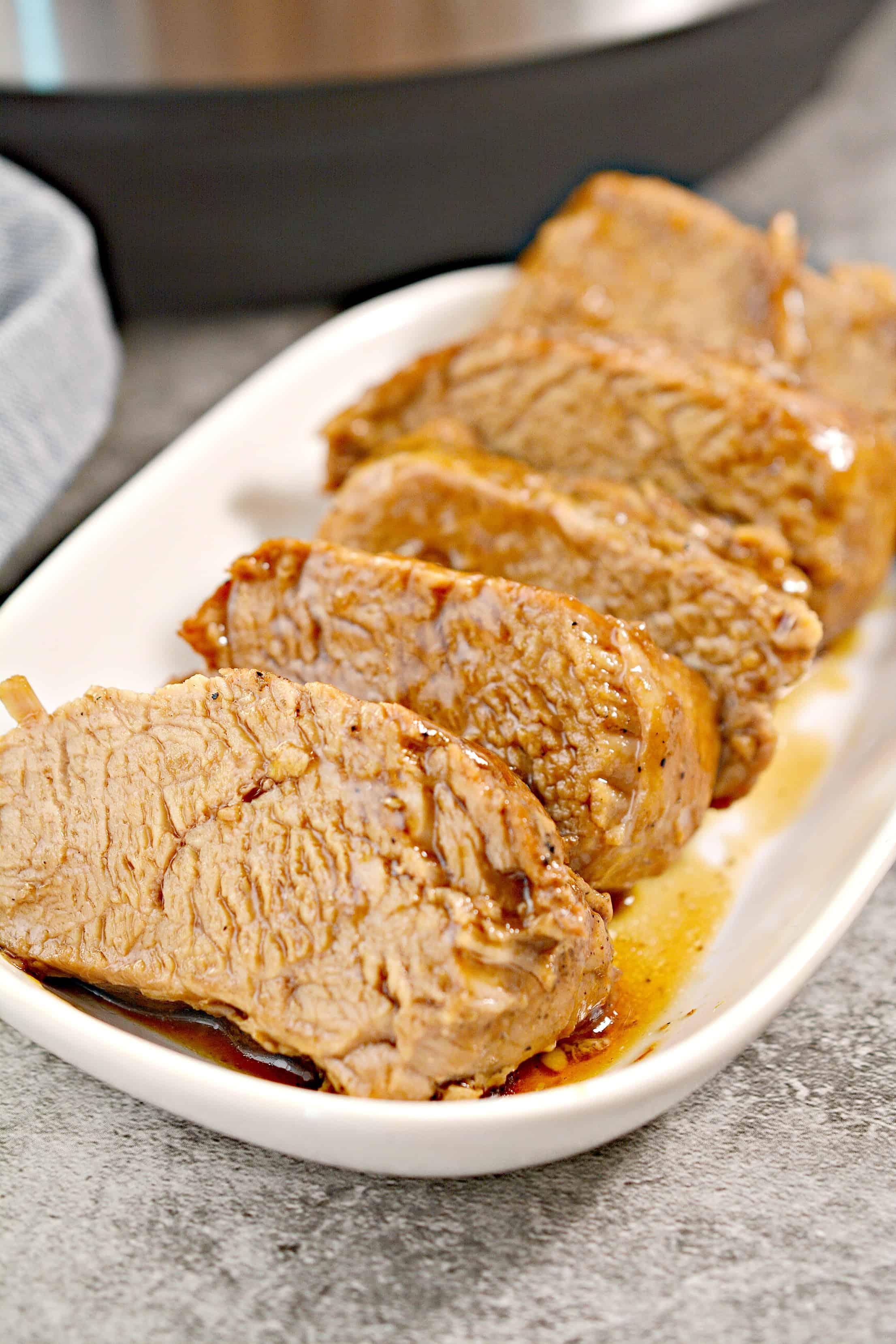 close up of pork tenderloin