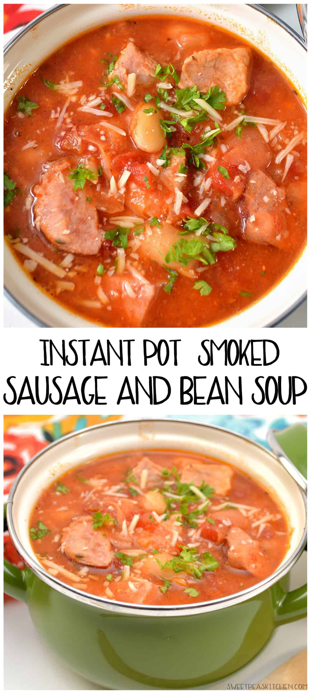 Instant Pot Smoked Sausage And Bean Soup