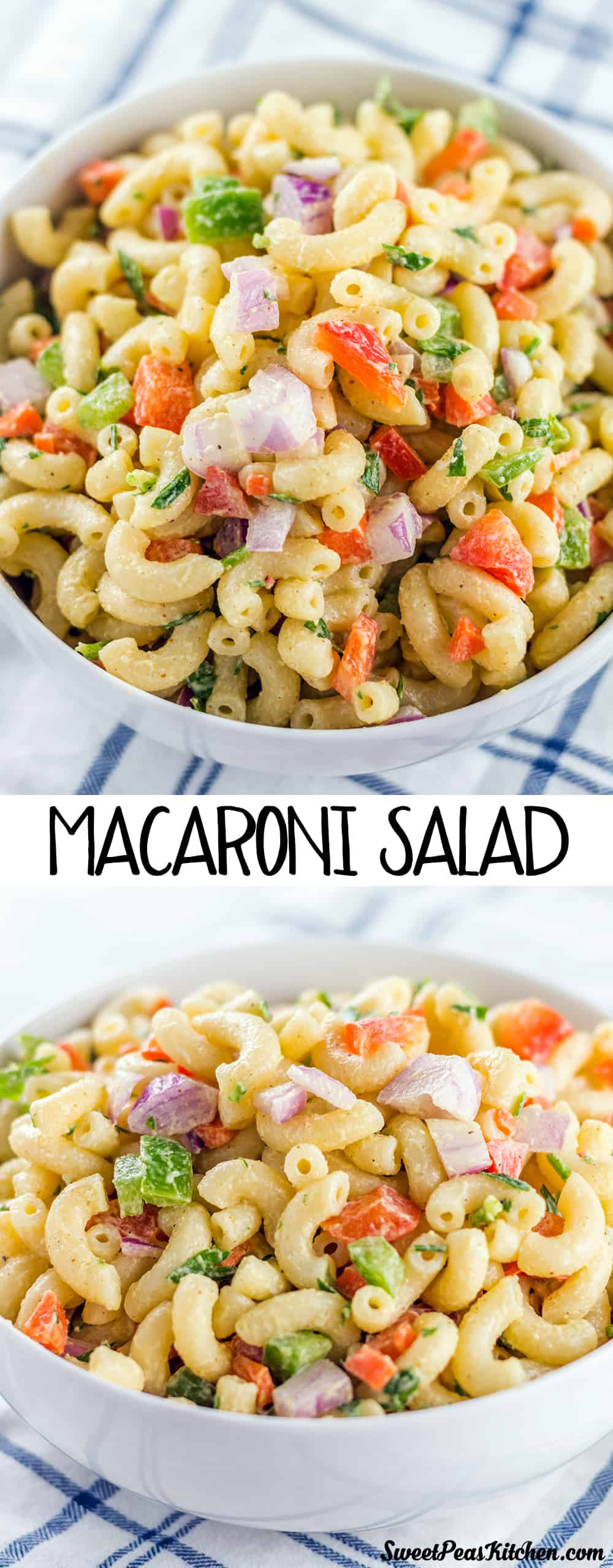 macaroni salad in a bowl