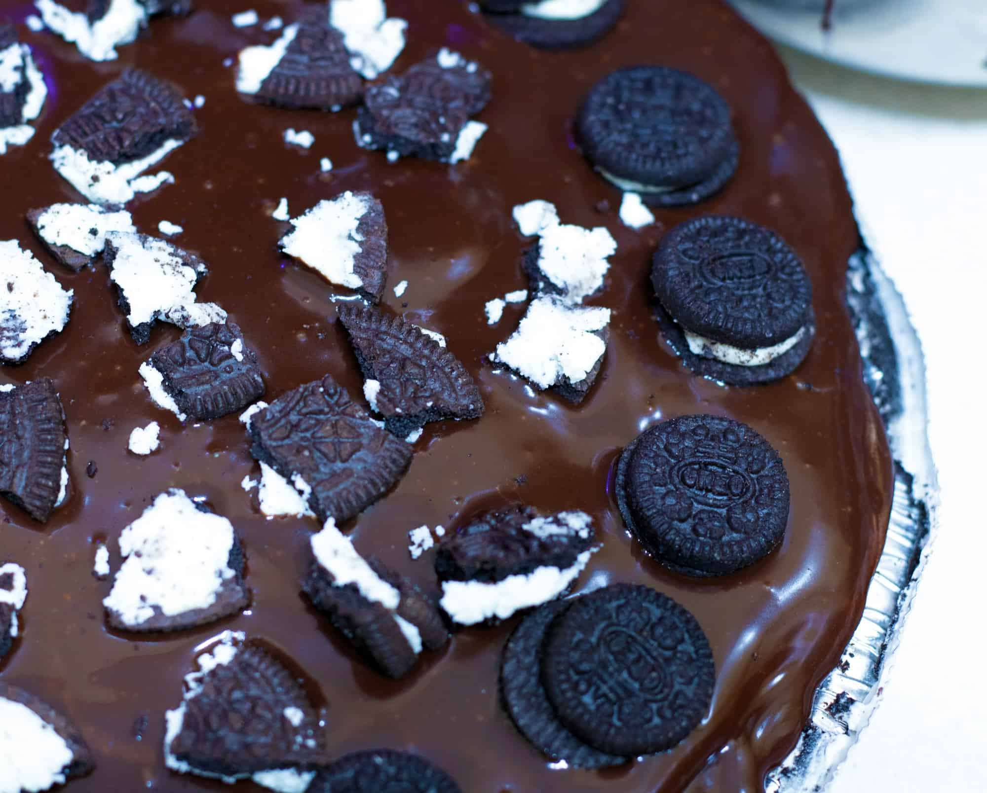 oreo pie in pan