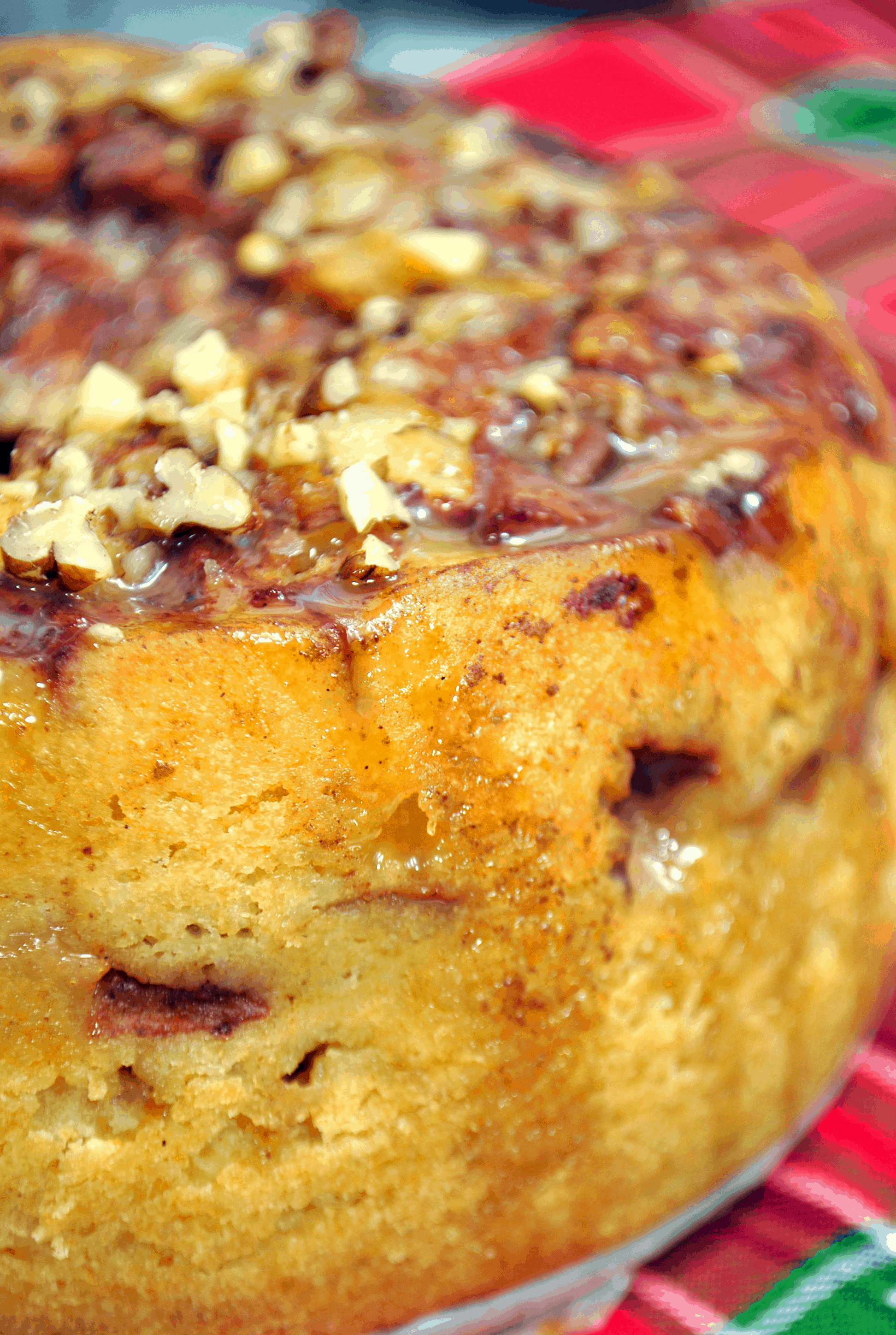 close up of apple cake