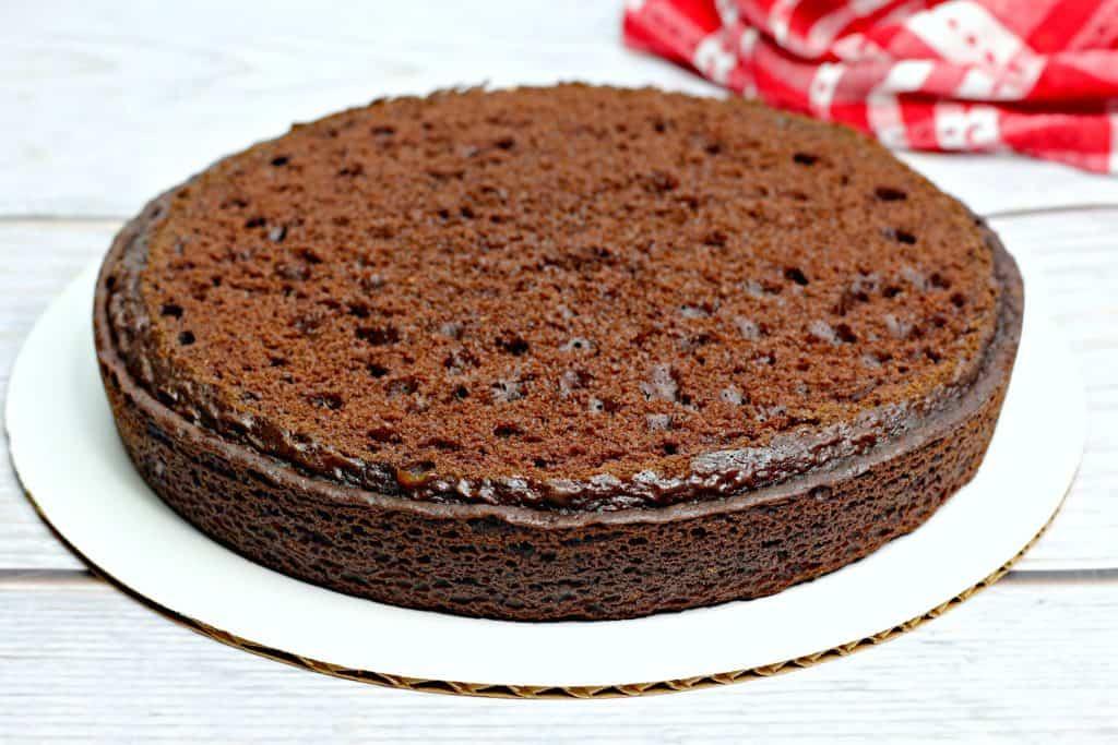 flat prepared cake