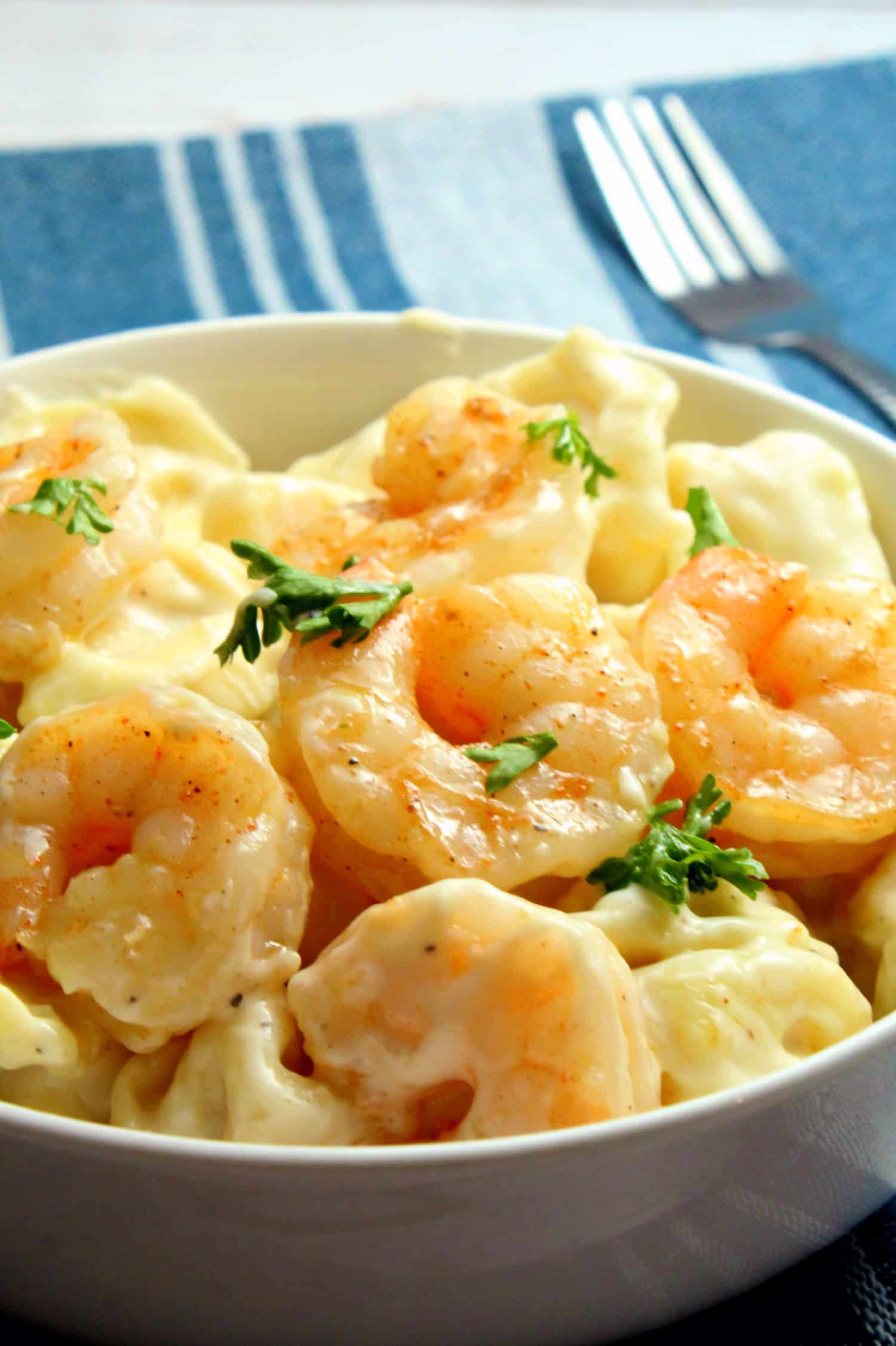 Cheese Tortellini Skillet with Shrimp