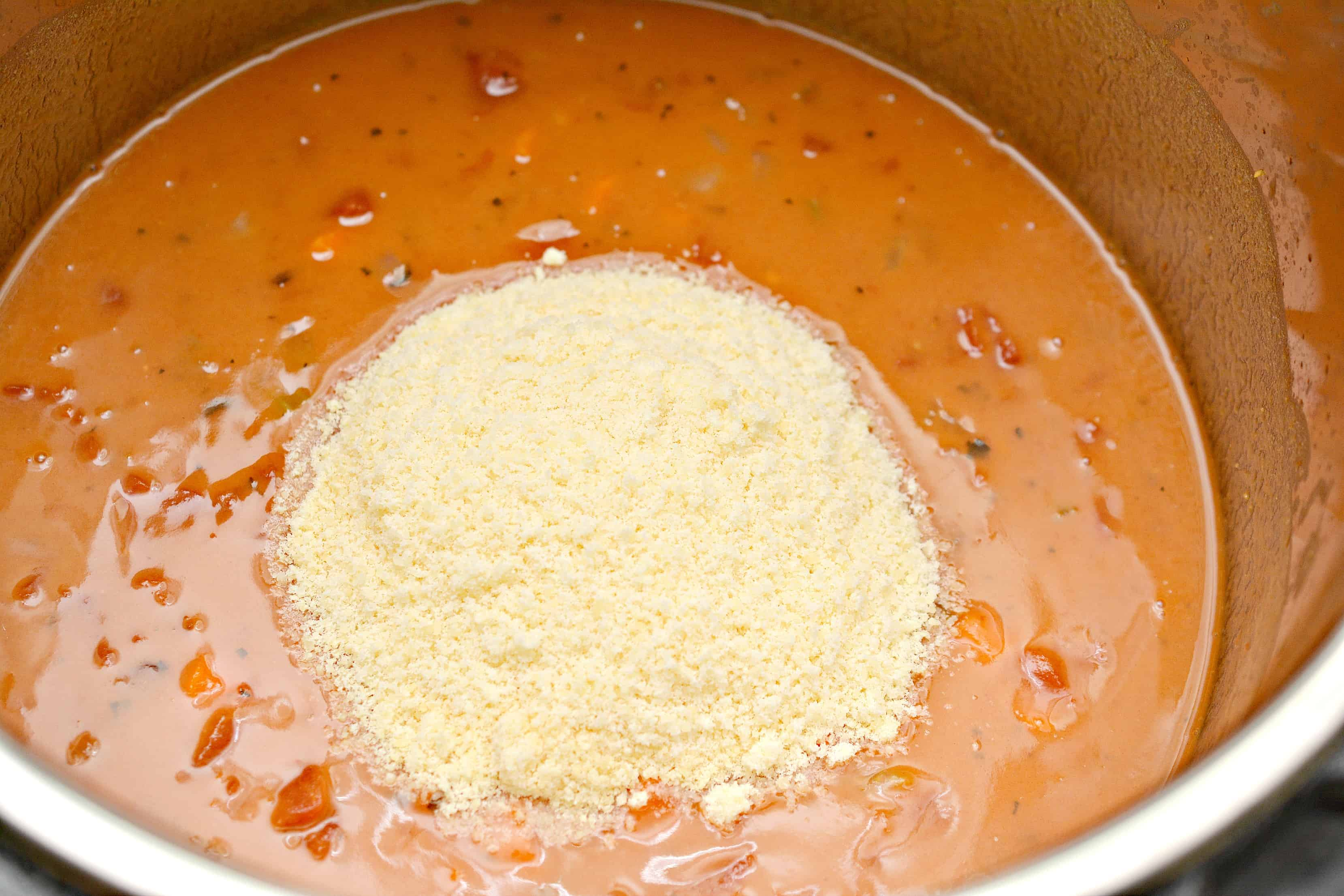 parm cheese in tomato soup