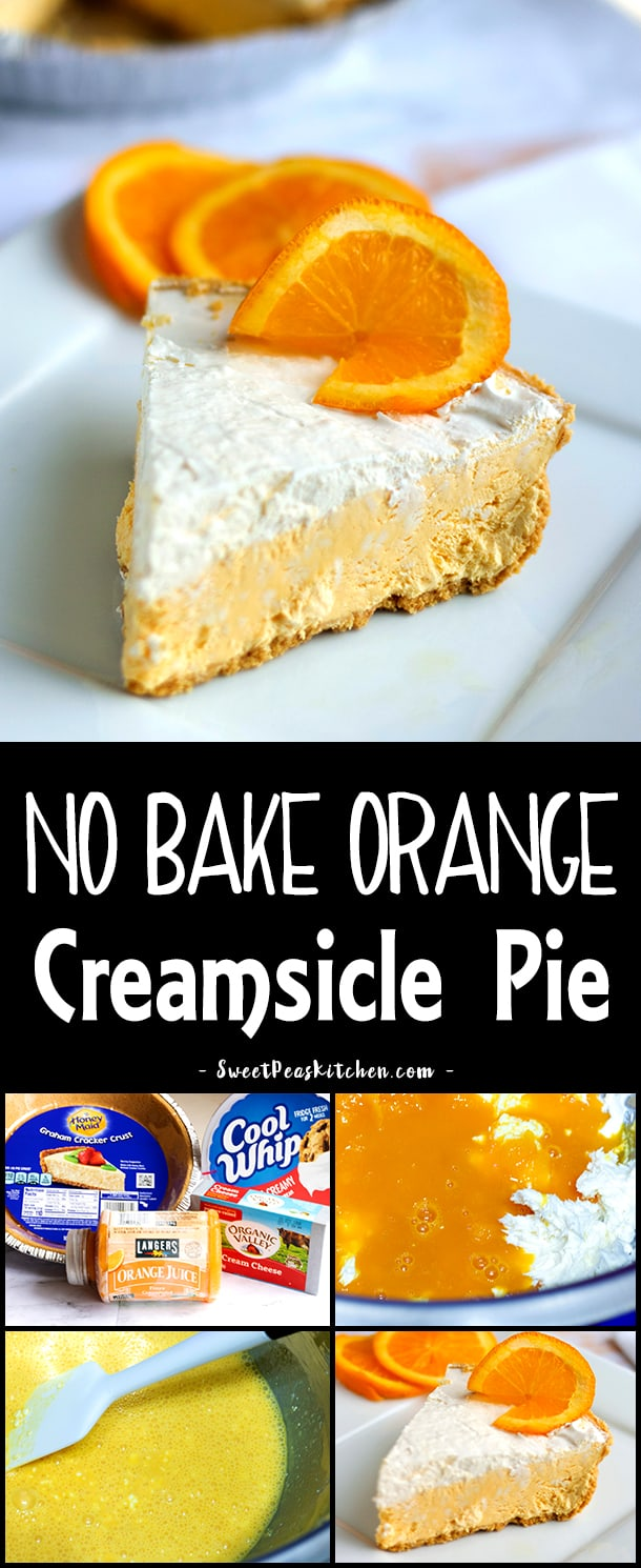 No-Bake Orange Creamsicle Pie