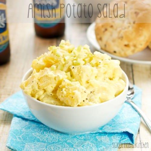 bowl full of potato salad