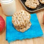 stack of apple oatmeal cookies