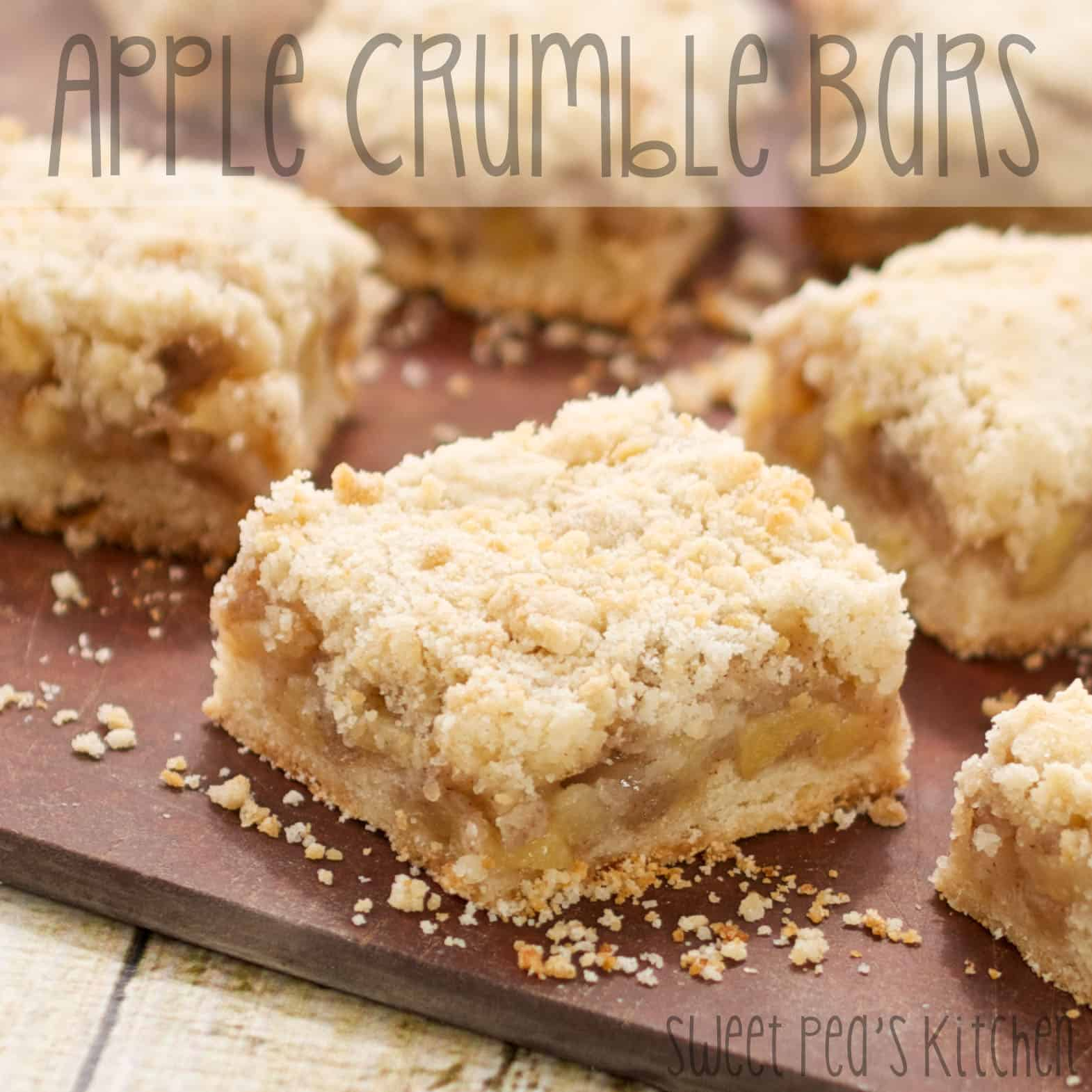 apple crumble bar