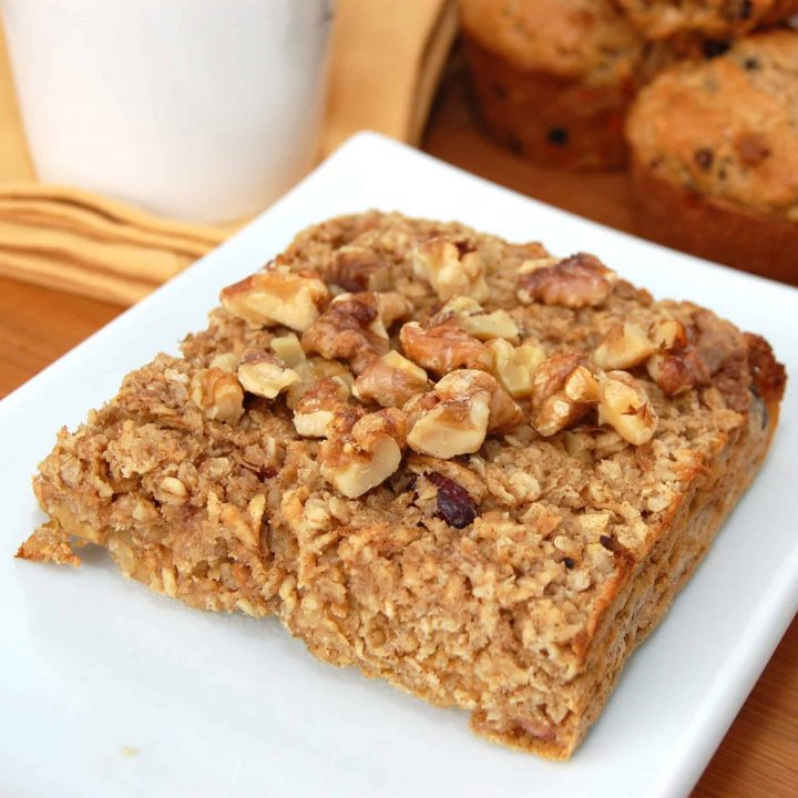 Baked Apple Walnut Oatmeal