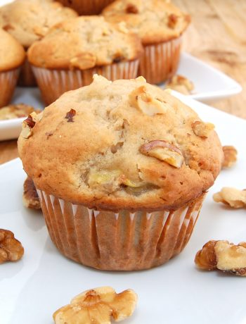 homemade banana muffin on plate