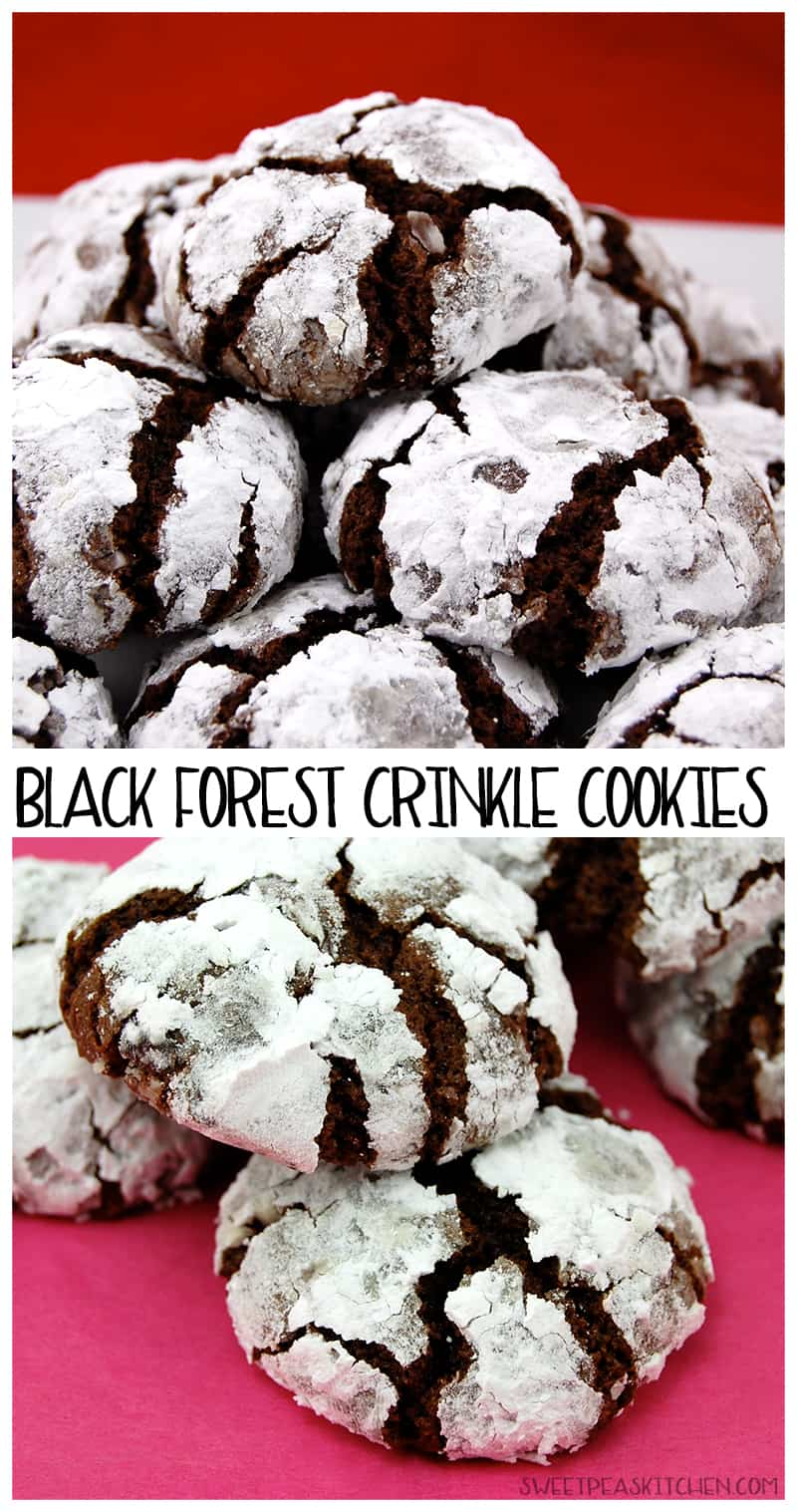 black forest crinkle cookies