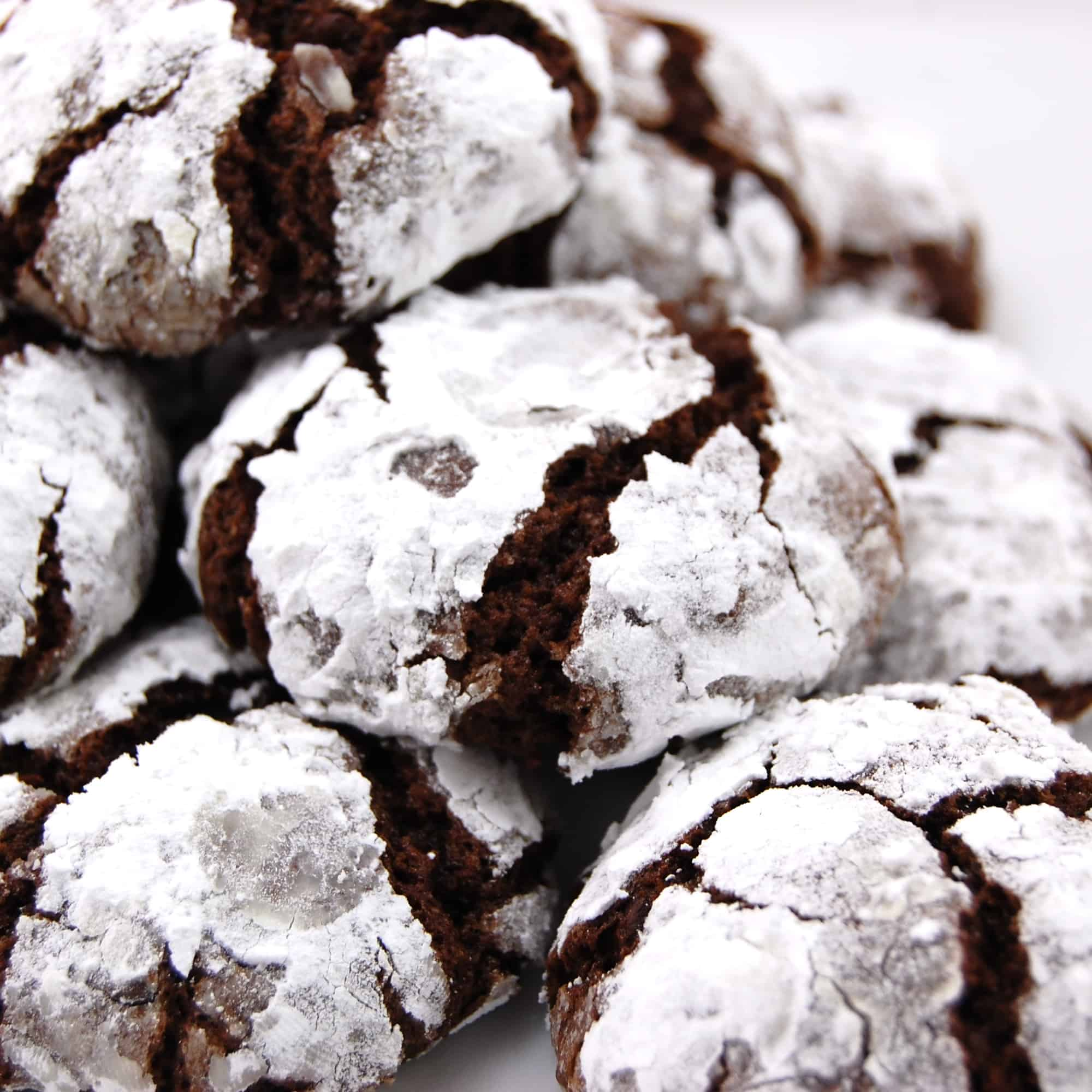 Black Forest Chocolate Crinkle Cookie