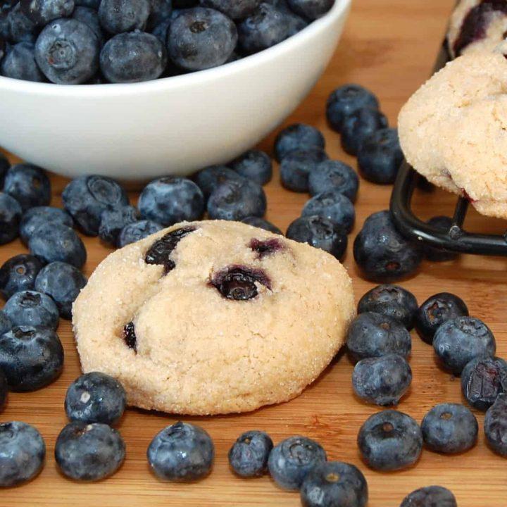 Brown Sugar Blueberry Cookies
