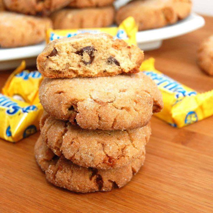 Butterfinger Chocolate Chip-Peanut Butter Cookies