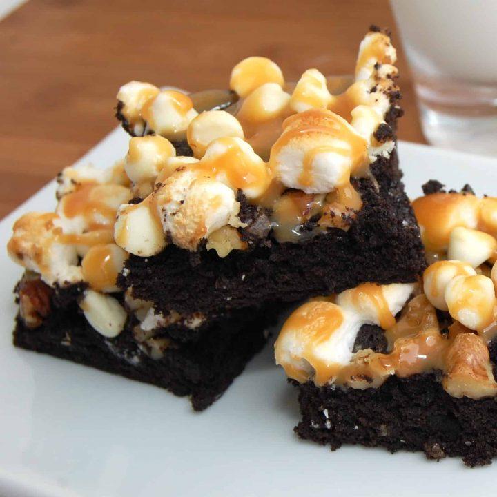 Caramel Marshmallow Brownies