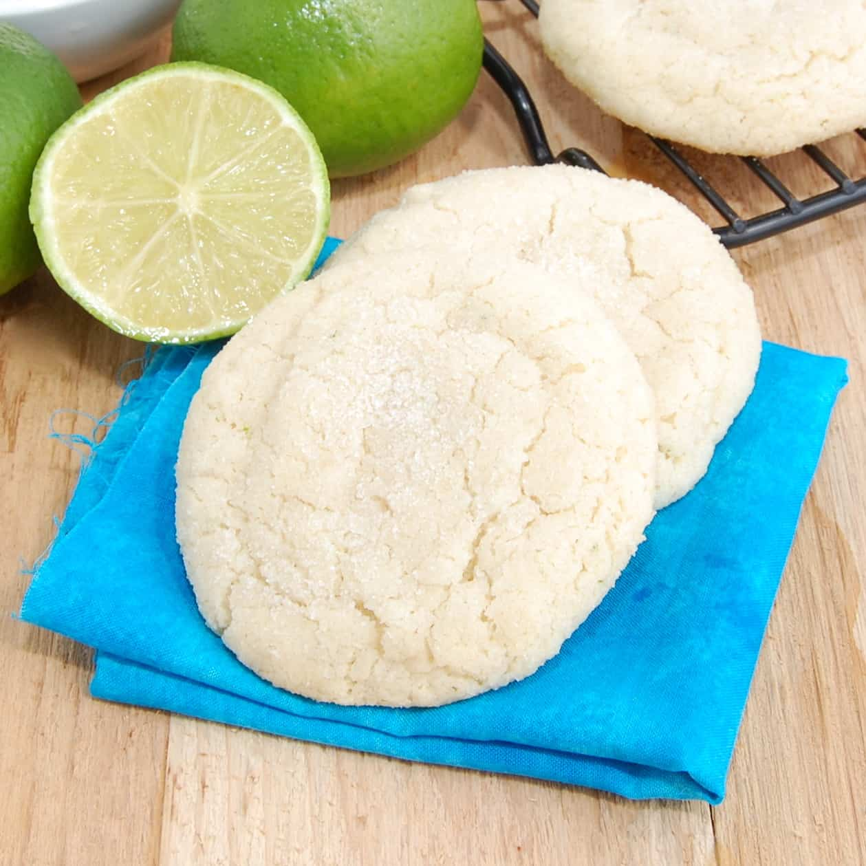 stack of lime cookies ready to eat