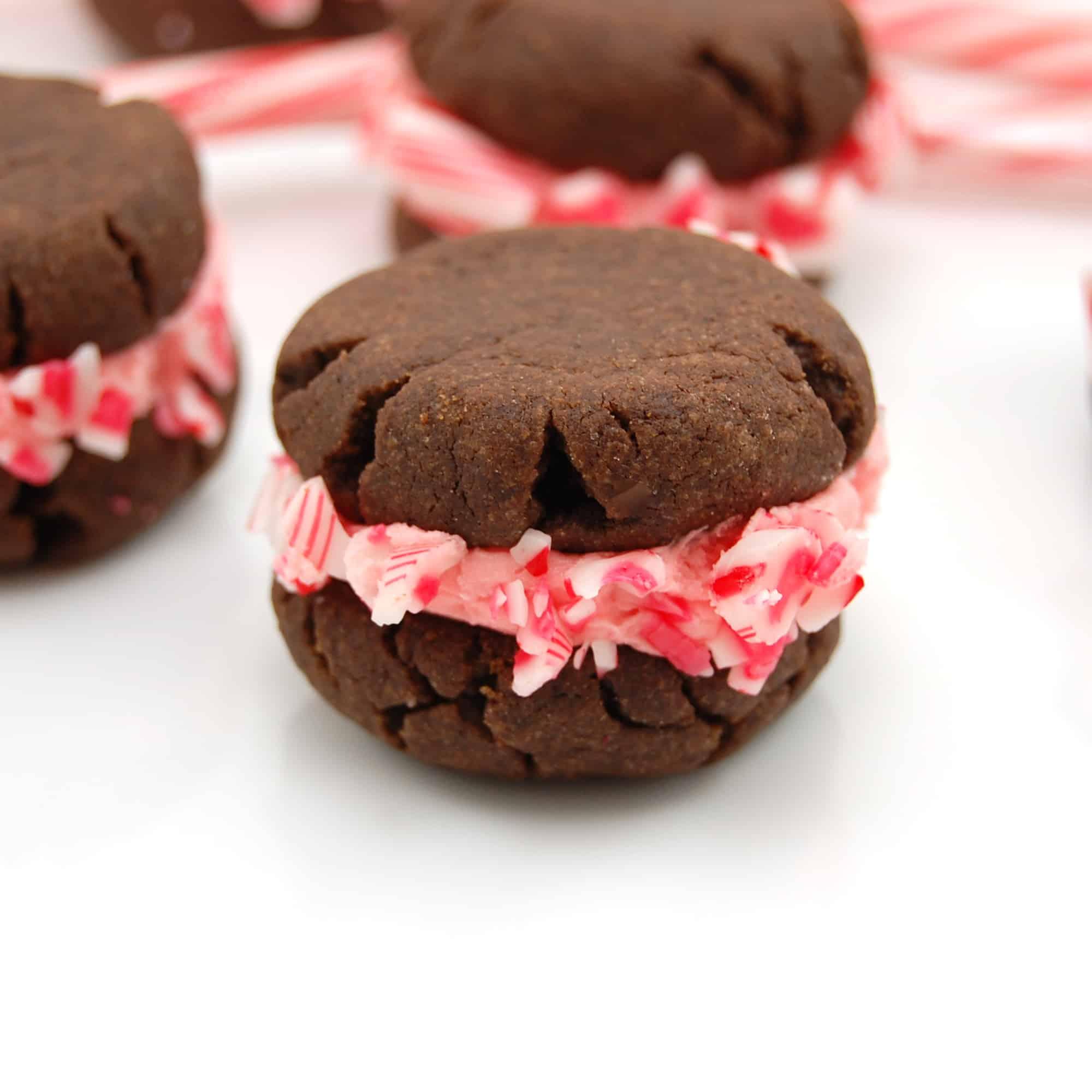 Stuffed Chocolate Peppermint Cookies