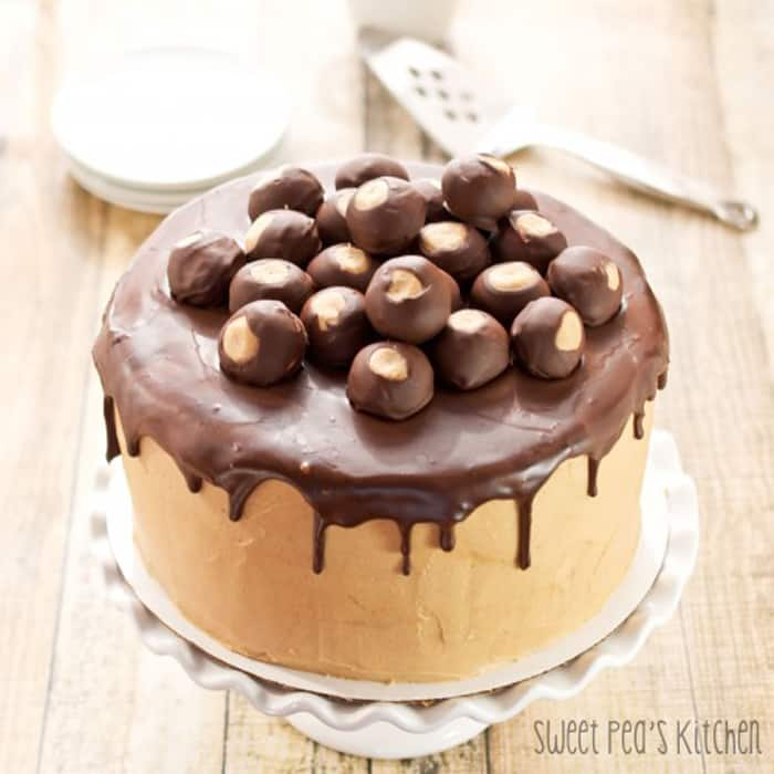 Buckeye Peanut Butter Cheesecake Layer Cake