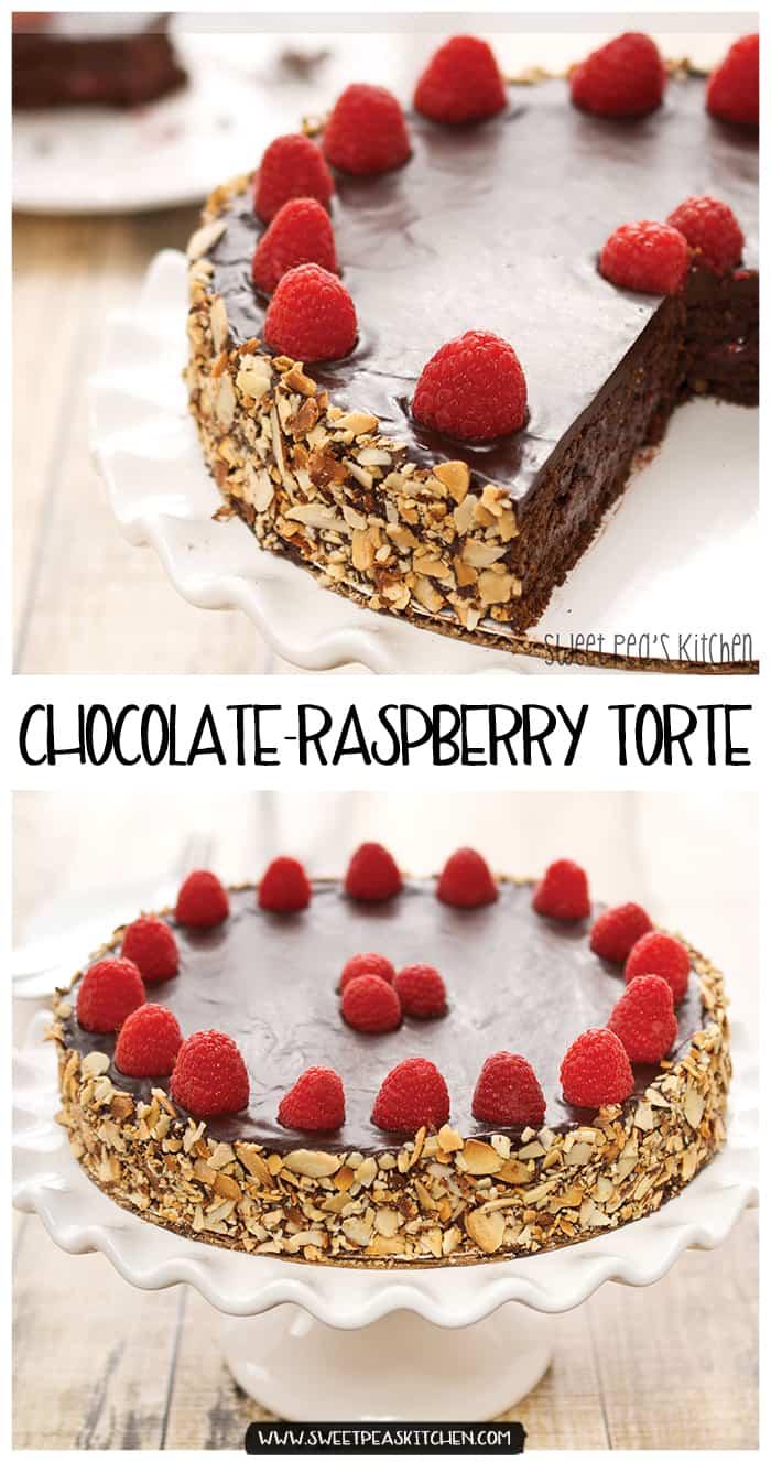 raspberry chocolate cake torte