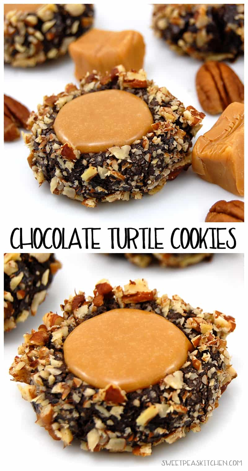 Ultimate Turtle Cookies Recipe collage