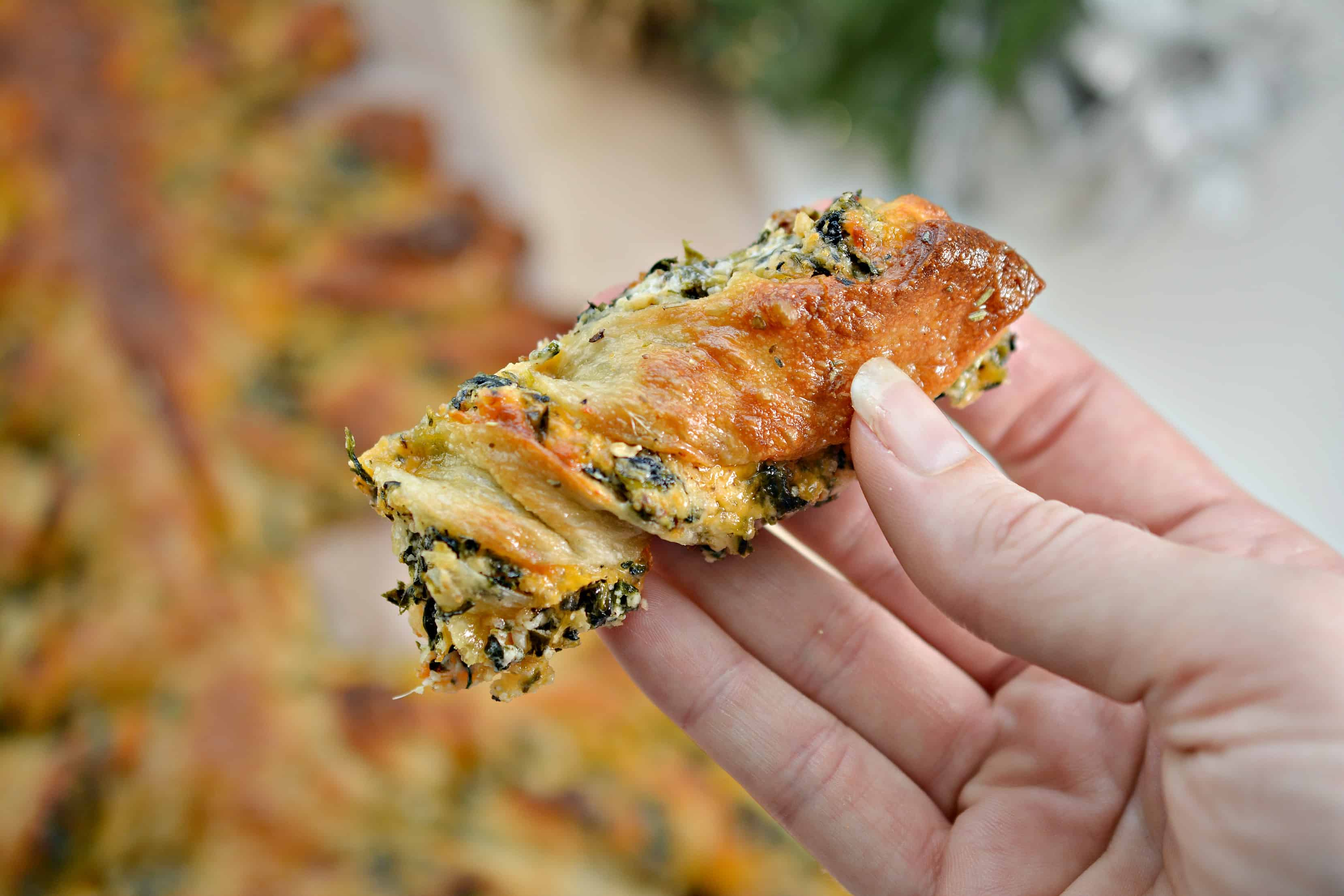 Spinach Dip Christmas Bread Tree - Sweet Pea's Kitchen