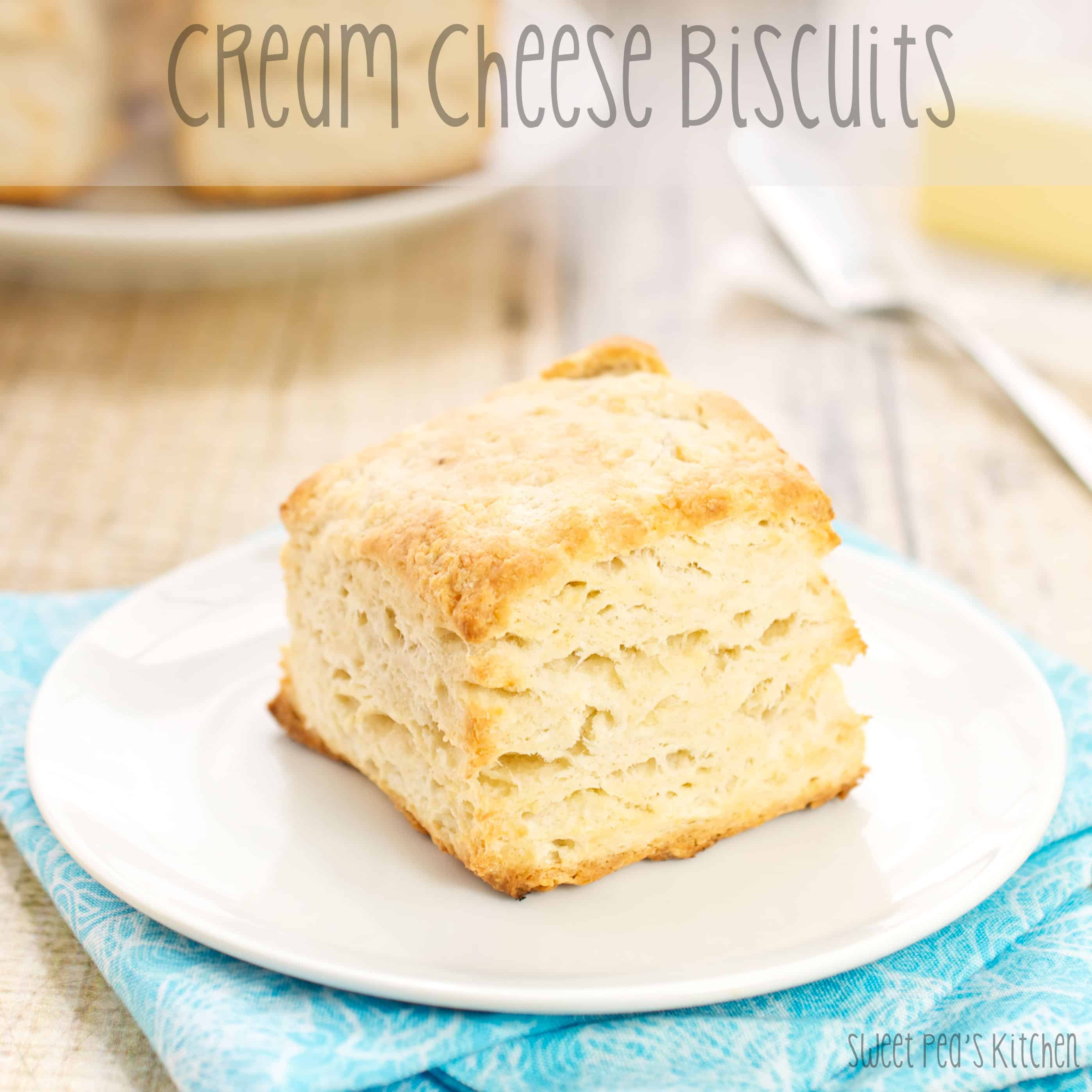 cream cheese biscuits on white