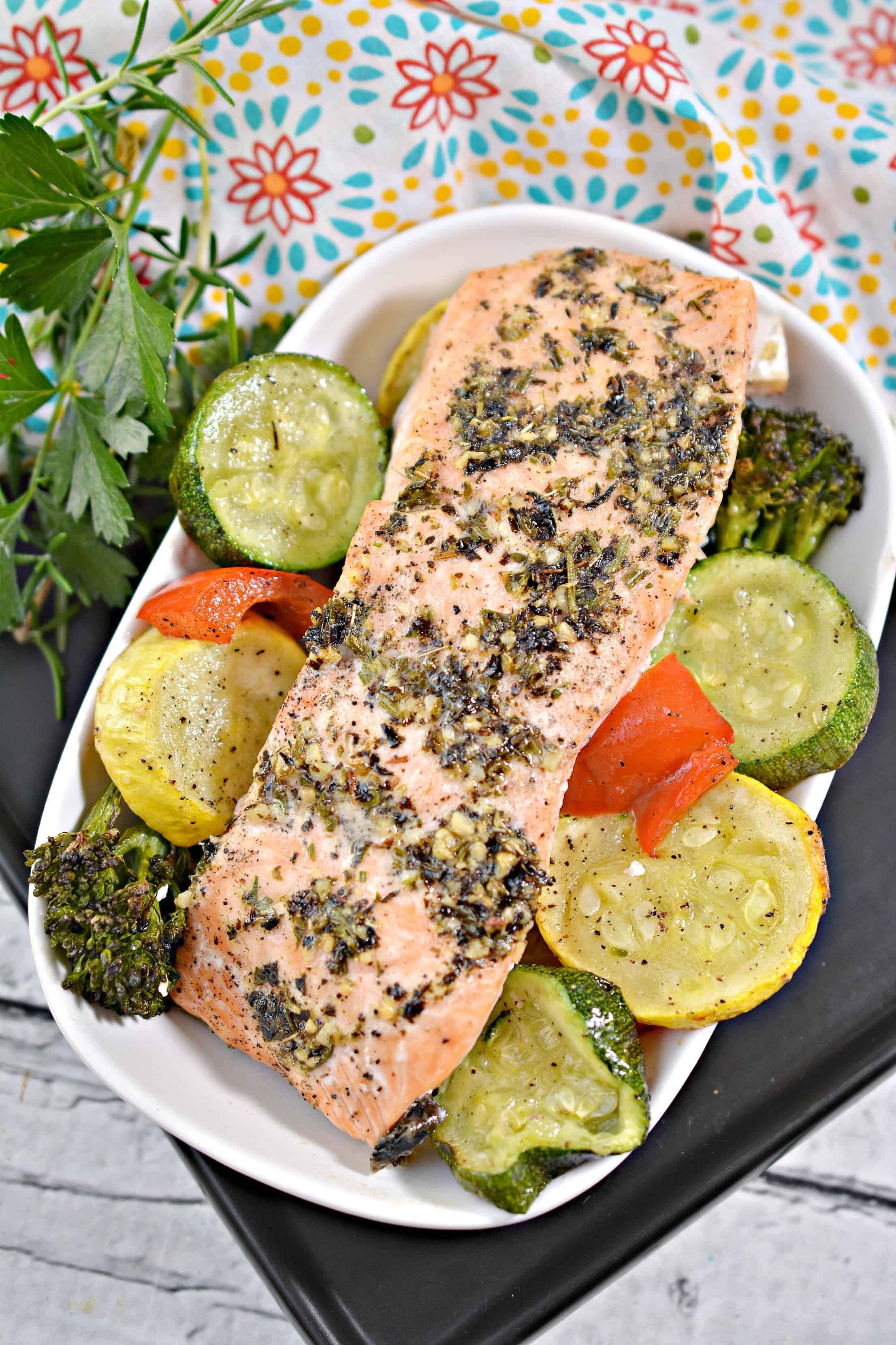 Lemon Herb Sheet Pan Salmon Recipe