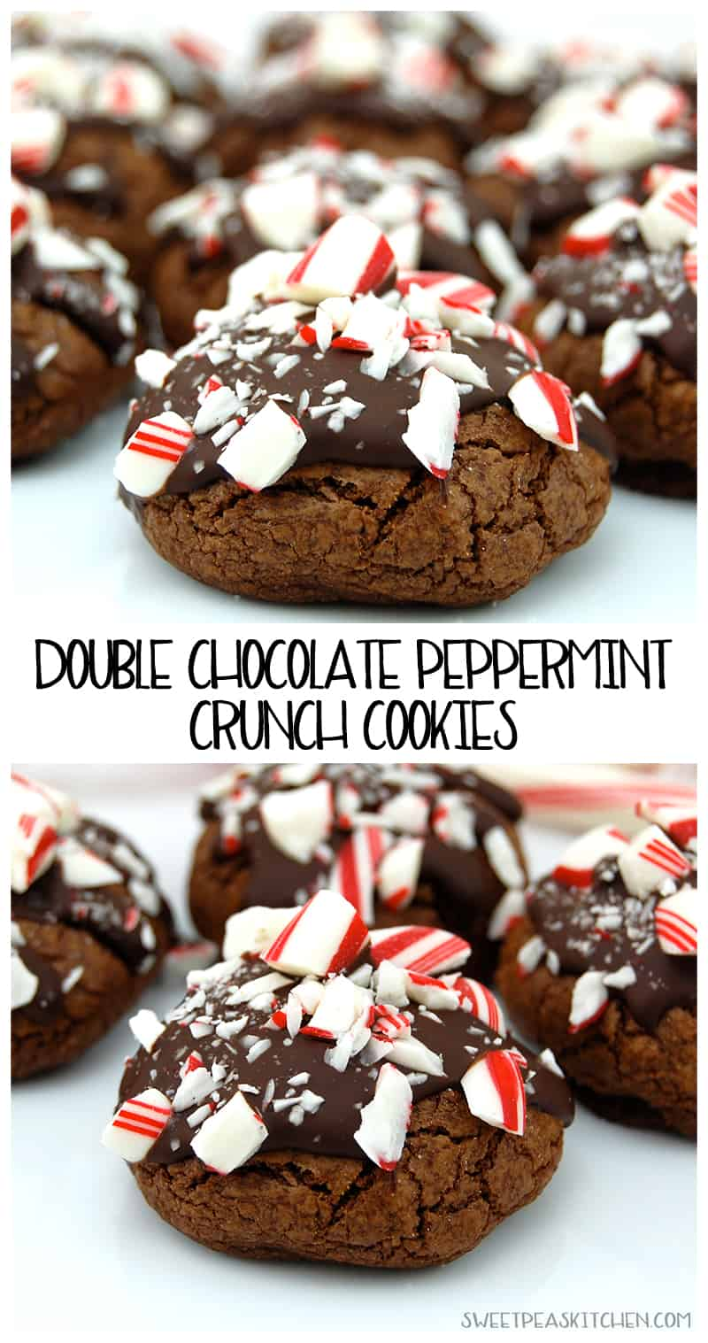 collage of Double Chocolate Peppermint Cookies Recipe