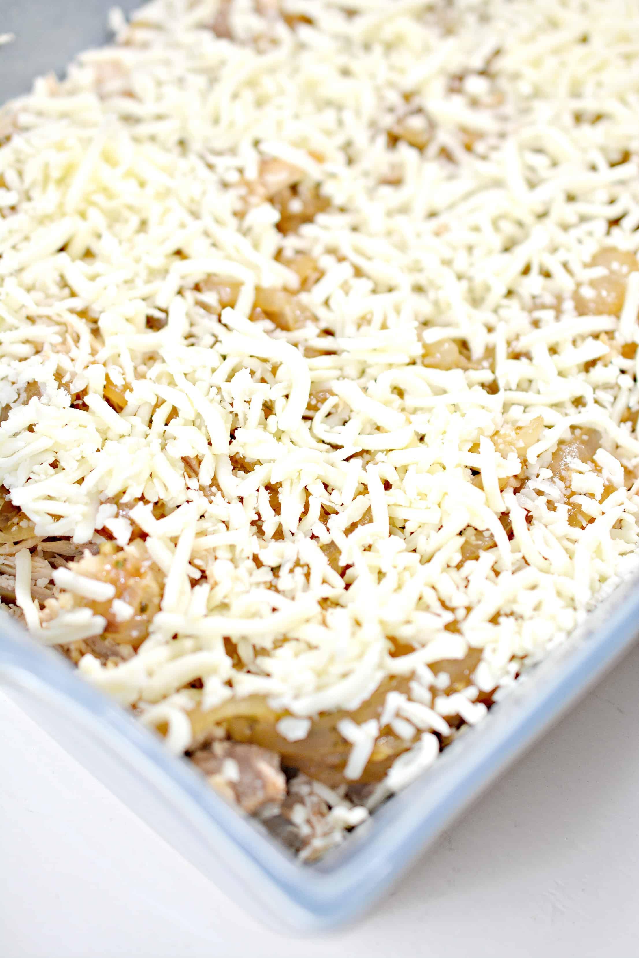 mozzarella on casserole