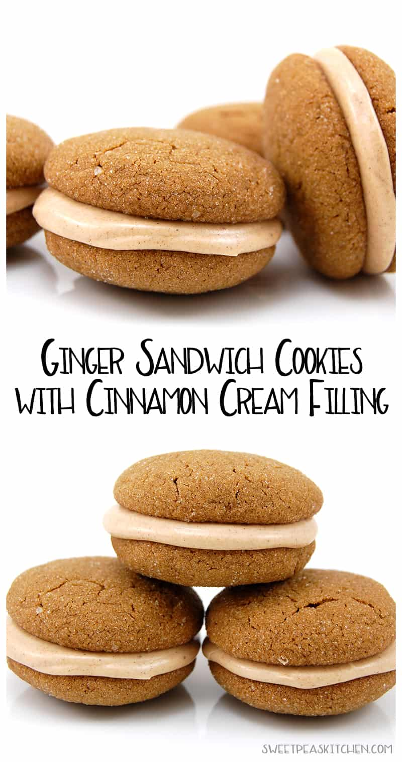 ginger cookies with cinnamon filling