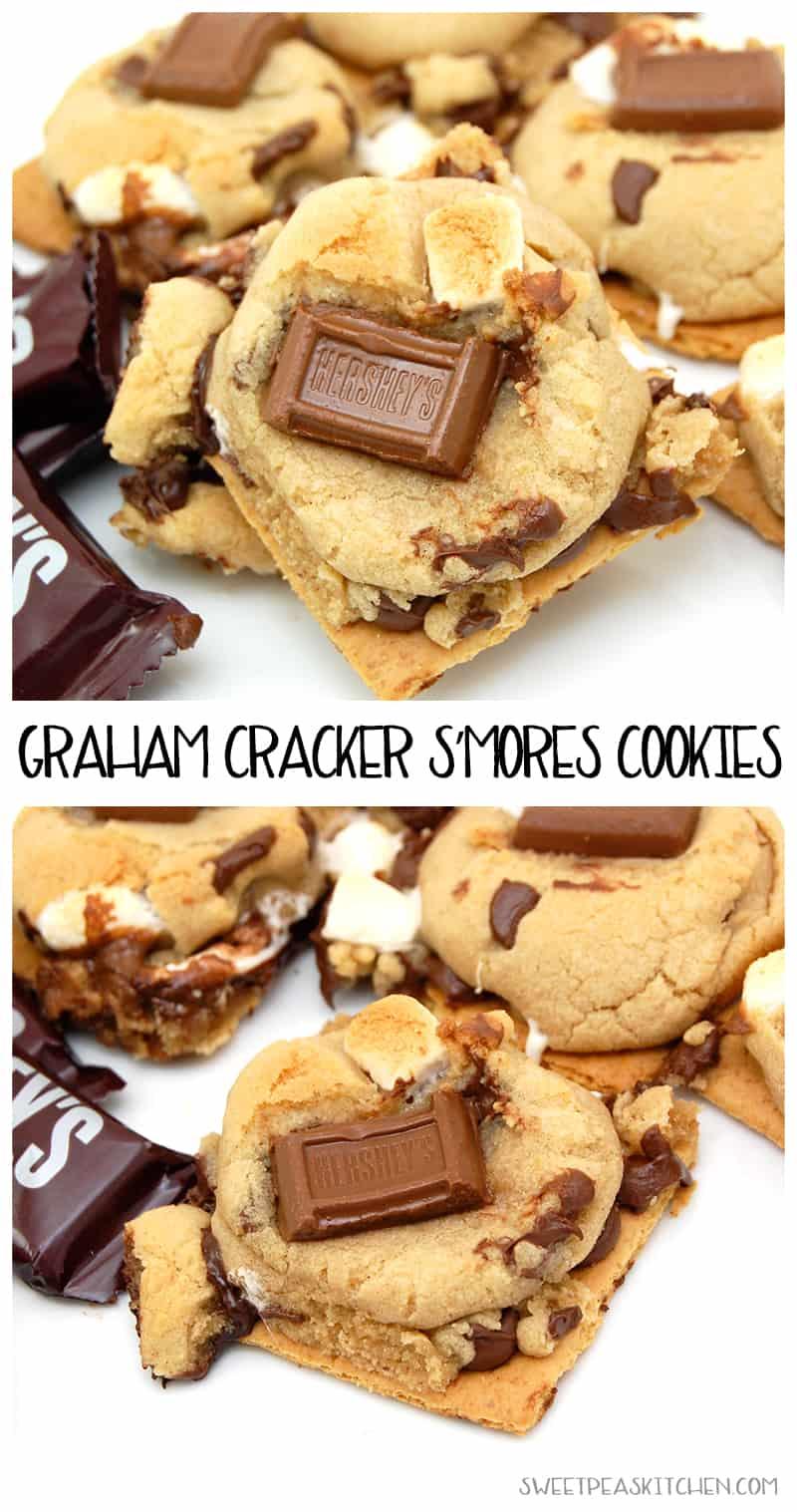 Graham Cracker S'mores Cookies Recipe - PIN Description