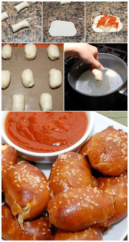 make mini pizza bites pretzels