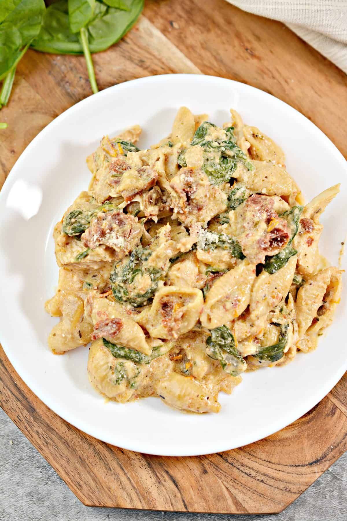 Instant Pot Chicken Tuscan Pasta