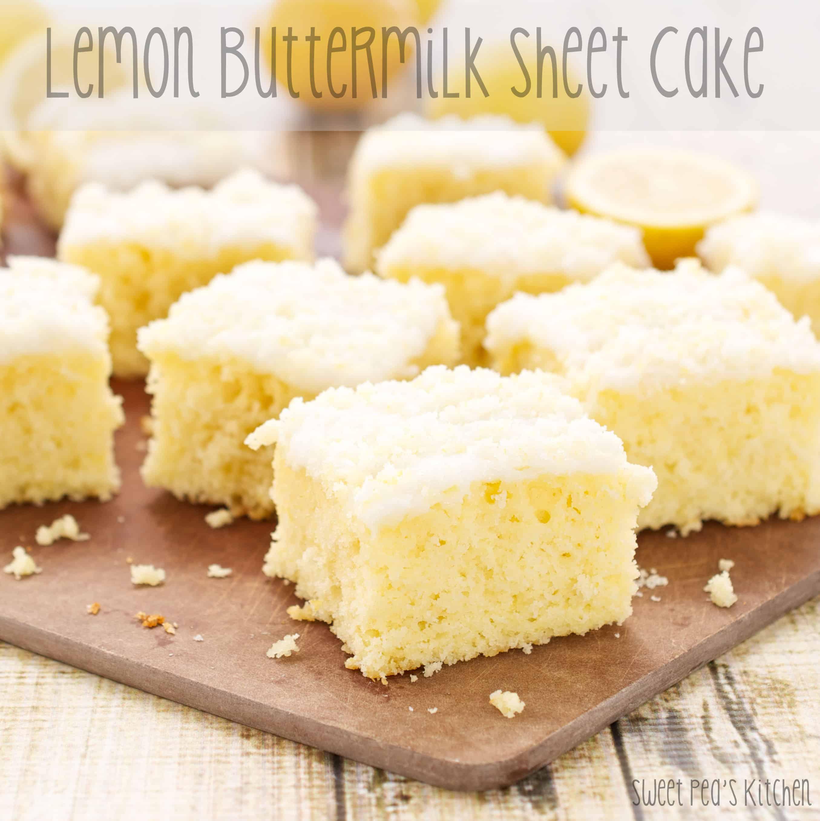 moist lemon cake recipe on a table