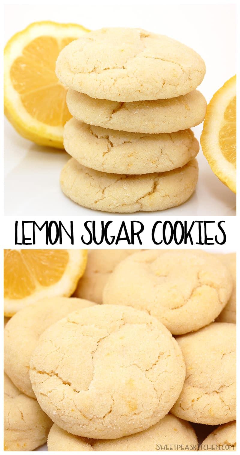 Lemon sugar cookies - PIN Image