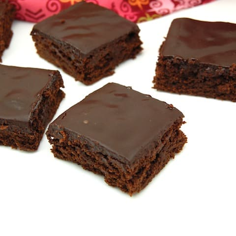 Mexican Hot Chocolate Brownies with Chocolate Ganache